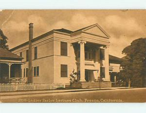 Divided-Back LADIES PARLOR LECTURE CLUB Fresno California CA t6660
