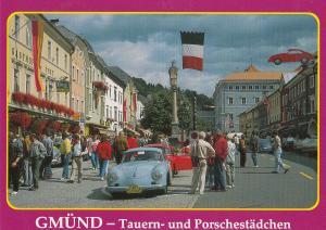 Gmund Austria Flying Classic Car Austrian Postcard
