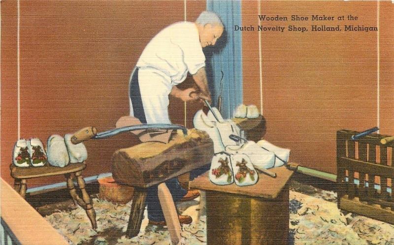 Holland Midutch Novelty Shopwooden Shoe Maker250 A Pair 1940s