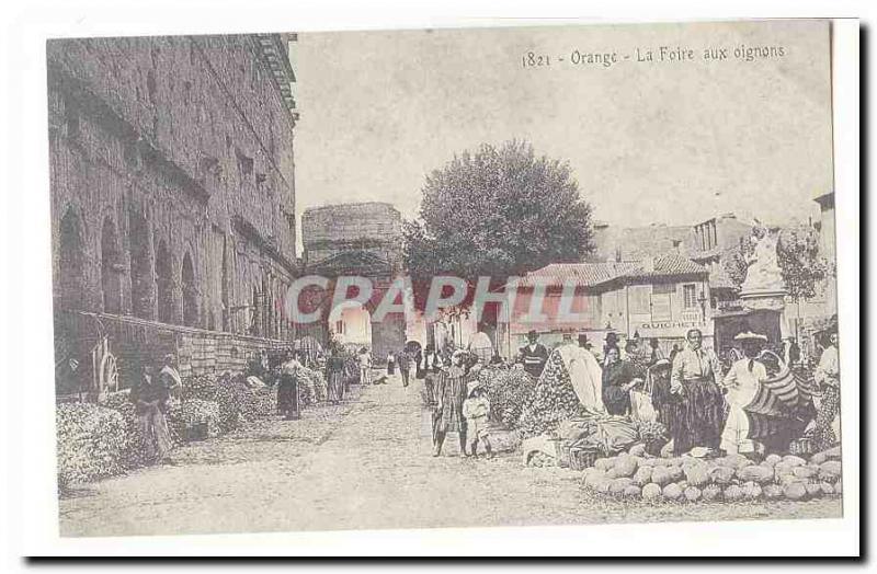 Orange Old Postcard Fair onions (reproduction)