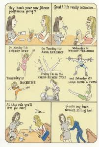 Lose Weight Exercises Bad Back Boxing Weight Training Comic Humour Postcard