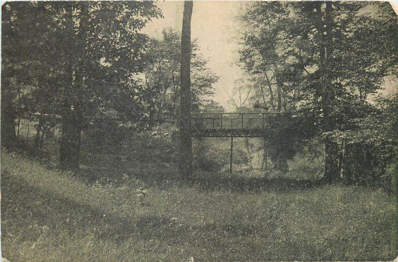 Smithville Ohio~Point Breeze (Chautauqua) Bridge @ Grove B&W