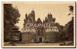 Old Postcard Treport Eu Seas and Surroundings The castle of Rambures from the...