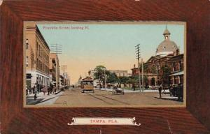 Florida Tampa Trolley On Franklin Street Looking North