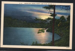 North Carolina colour PC Moonlight, North Lake Club, Shelby  N.C.  unused