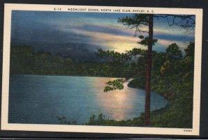 North Carolina colour PC Moonlight, North Lake Club, Shelby  N.C.  unused