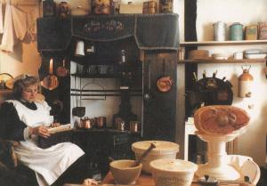 Sussex Buckleys Museum Victorian Kitchen Postcard