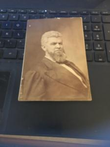 Vintage Photo -  Bearded Man in Suit, Circa 1900 3-1/2 x 5-1/2