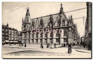 Old Postcard Rouen Facade courthouse
