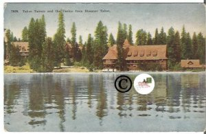 Vintage Postcard Tahoe Tavern and Casino from Steamer Tahoe California