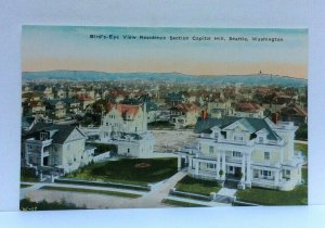 Seattle WA Birds Eye View Residence Section Capitol Hill Vintage Postcard