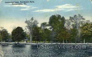 Centennial Lake, Fairmount Park Philadelphia PA 1917