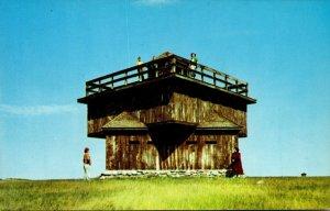 North Dakota Mandan Fort Lincoln State Park Block House Of Original Infantry ...