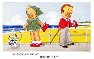 Vintage Comic Joke Postcard, I'm Picking up at Herne Bay, Kent DQ4
