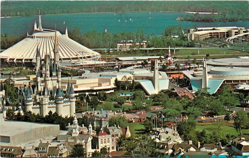 Magic Kingdom Disney World Walt Disney Aerial View 1970 S 1980 S
