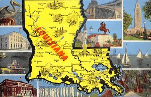 Louisiana, USA  Postcard Unused