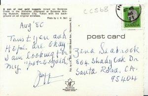 Canada Postcard - A Pan of Real Gold Nuggets - Dawson City - Yukon - Ref 17289A