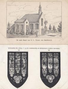 Windows Our Lady Vrouw Van Assebrouck Stained Glass Religious 2x Old Postcard s