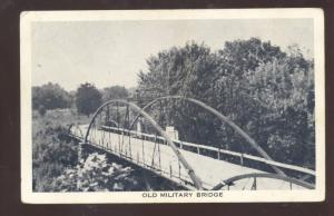 FORT SCOTT KANSAS OLD MILITARY BRIDGE TO FORT SMITH ADKANSAS VINTAGE POSTCARD