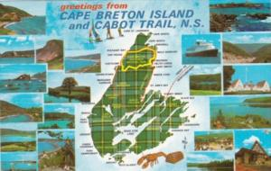 Canada Greetings From Cape Breton Island and Cabot Trail Nova Scotia