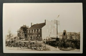 Mint Vintage Fort Necessity Museum East Union Town PA Real Photo Postcard RPPC