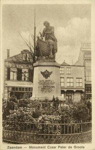Monument of Russian Czar Peter I the Great, Zaandam Netherlands (1910s) Postcard