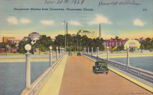 Clearwater Skyline From Causeway Clearwater Florida 1939