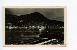 Hong Kong Harbor at Night China Lights RPPC Real Photo Postcard