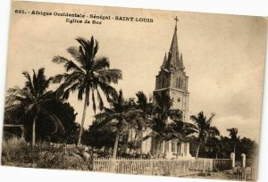 CPA AK Senegal Fortier 601 Afrique Occidentale Saint Louis Eglise Sor (235275)