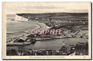 Old Postcard Mers les Bains General View of Seas and basins