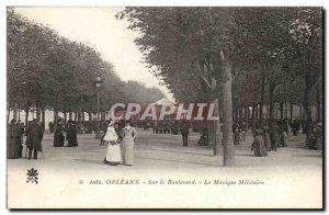 Orleans - On the Bouleavard - The Military Music - Old Postcard
