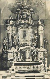 Hungary Matraverebely church altar postcard