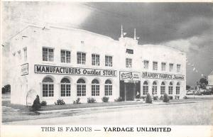 E37/ St Petersburg Florida Fl Postcard c40s Fabric Drapery Store Outlet Yardage