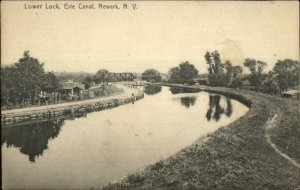 Newark NY Lower Lock Erie Canal c1910 Postcard