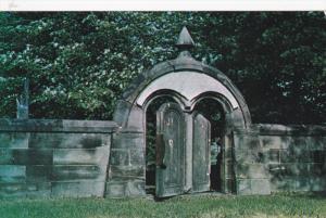 Balanced Stone Entrance , Harmonite Cemetery , HARMONY , Pennsylvania , 40-60s