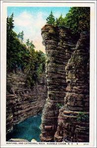 Sentinel & Cathedral Rock, Ausable Chasm NY