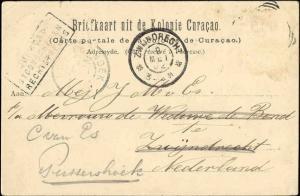 curacao, D.W.I., WILLEMSTAD, Pietermaai, Breede Straat, Church (1902)