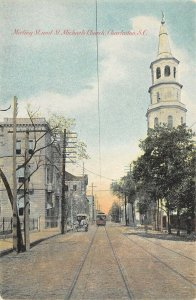 LP66 Charleston South Carolina St. Michaels Church  Postcard
