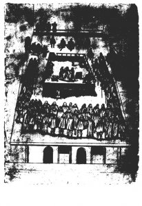 The Execution Of Mary Queen Of Scots Pen and Ink Sketch British Museum
