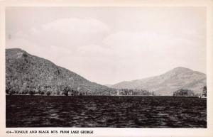 Tongue and Black Mountains from Lake George, N.Y., Early Postcard, Unused