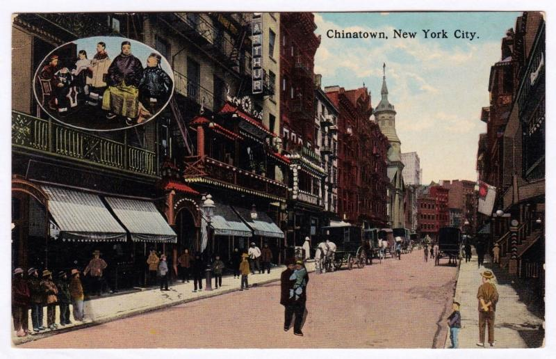 1907-1915 Chinatown New York City NY N.Y. Street Scene RARE Divided DB Postcard