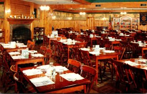 New Hampshire Littleton Thayers Hotel Showing Knotty Pine Dining Room