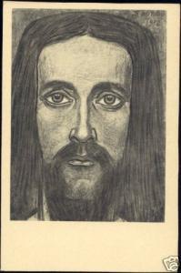 Dutch Symbolist JAN TOOROP - Head of Christ