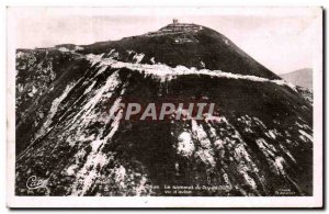 Old Postcard Auvergne The top of the Puy de Dome View of & # 39avion