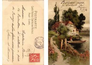 CPA Dein Heim Dein Gluck Meissner & Buch Litho Serie 1251 (730627)