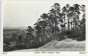 RPPC, Stormy Point Alderley Edge UK,  1967 by Lilywhite