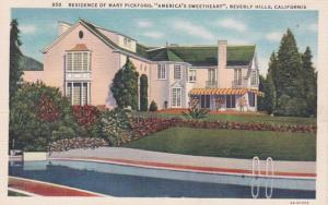 California Beverly Hills Residence Of Mary Pickford