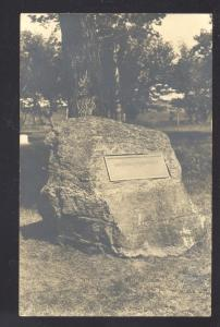 RPPC CRETE NEBRASKA DOANE COLLEGE STONE MONUMENT OLD REAL PHOTO POSTCARD