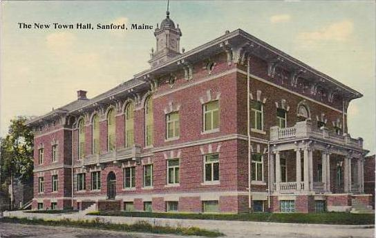 Maine Sanford The New Town Hall