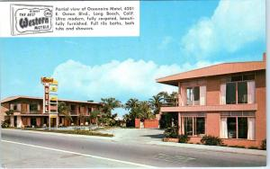 LONG BEACH, CA  California    OCEANAIRE  MOTEL   c1950s    Roadside   Postcard
